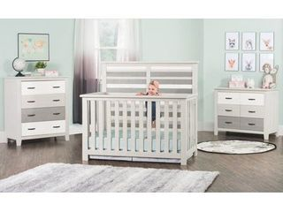 Forever Eclectic long Beach 4 in 1 Convertible Crib   Seascape Gray  Retail 377 99