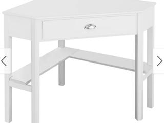 White Corner Computer Desk Table Wooden Workstation Corner laptop Desk Retail 177 88