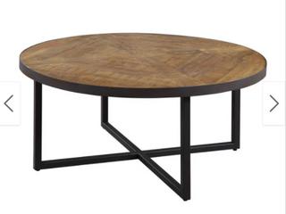 Carbon loft Barnett Antique Pine Round Coffee Table  Retail 219 49