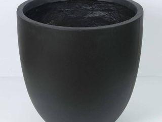luxen Home Round Black Planter  large