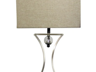 Copper Grove lenzerhorn Elegant Designs Brushed Chrome Hourglass Shape with Pendulum Table lamp