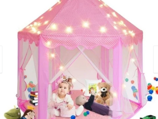 Princess Castle Play Tent for Girls with lED Star String lights 3 Pack Retail 78 48