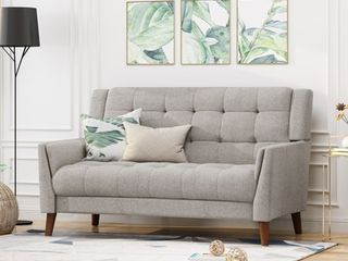 Candace Mid Century Modern Fabric loveseat by Christopher Knight Home  Retail 433 39