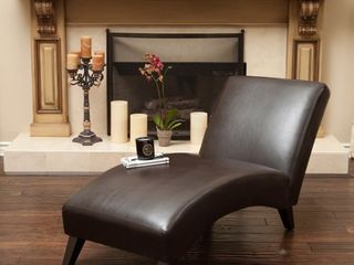 Finlay leather Chaise lounge by Christopher Knight Home  Retail 263 49