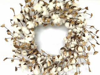 Glitzhome Cotton Pods Wreath