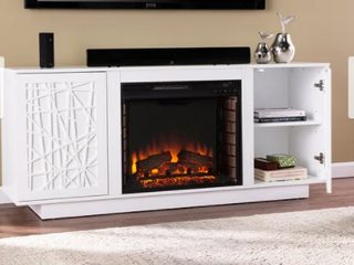 Strick   Bolton Delauro Electric Media Fireplace w  Storage  Retail 643 99