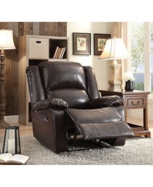 Acme Furniture Vita Espresso leatherette Recliner  Retail 385 99