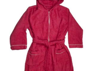 Girls Terry Cloth Hooded Bathrobe 100  Cotton Terry Cover up