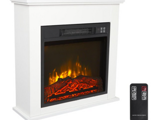 ZOKOP 18  Wood Cabinet Electric Fireplace 1400W Infrared Heater With Remote Control  Retail 158 49