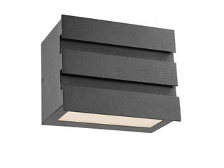 CHlOE lighting BECKETT Contemporary lED light Textured Black Outdoor Wall Sconce 5  Tall