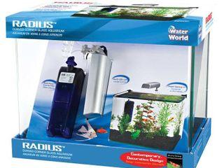 Penn Plax Radius Clear Desktop Aquarium Kit Retail 77 48
