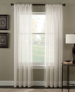 Trinity Crinkle Voile Extrawide Sheer Curtain Panel Set of 2