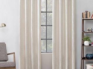 Scott living Halsey Textured Geometric Cotton Blend Semi Sheer Grommet Curtain Panel Set of 2