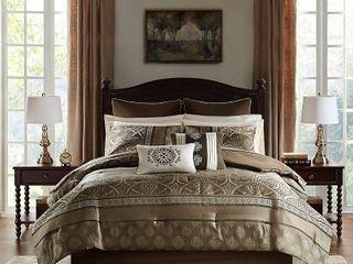 Madison Park Essentials Alexine Brown 16 Piece Jacquard Complete Bedding Set  Retail 145 26