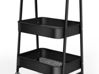 Metal Storage 3 Tier Rolling Kitchen Utility Cart