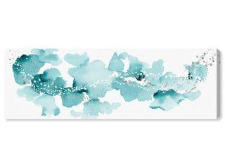 Oliver Gal  Beautiful Aqua Sky  Abstract Wall Art Canvas Print   Blue  White  Retail 178 49