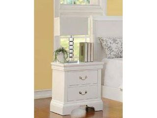 Simple Relax F4715 Nightstand  White Finish