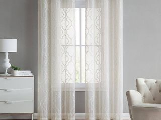 Set of 2 The Charlotte Emroidery Sheer Panel Pair