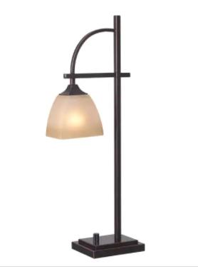 Copper Grove Square Glass Shade Bronze Finish 1 light Table lamp  Retail 104 09