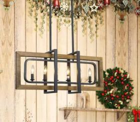 The Gray Barn Windy Bracken 6 light Kitchen Island light Chandeliers Ceiling lights   W31 5  x E8 7  x H13 8  Retail 342 99