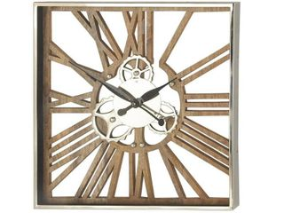 Industrial 24 x 24 Inch Square Gear Wall Clock Retail 181 99