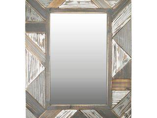 31 5 x23 5  Silas Salvaged Planks Mirror Gray