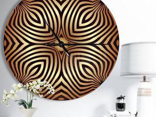 Designart  Convex Symmetrical Ellipse  Oversized Contemporary Wall Clock Retail 102 99