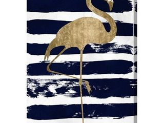 Oliver Gal  Flamingo  Animals Wall Art Canvas Print   Blue  Gold Retail 125 49