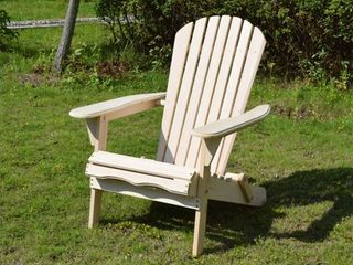 South Padre Natural Finish Foldable Adirondack Chair by Havenside Home  Retail 75 48