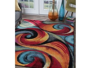 Alise Rugs Rhapsody Contemporary Abstract Area Rug  Retail 108 49