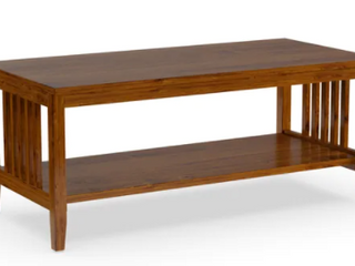 Porch   Den Clifton Mission Medium Oak Finish Coffee Table  Retail 108 27