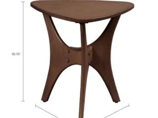 Carson Carrington Vintrosa Brown Triangle Wood Side Table  Retail 179 49