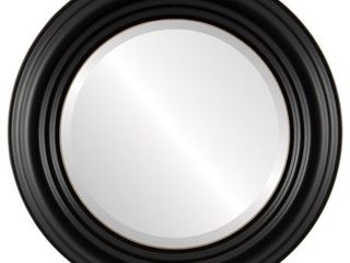 Regalia Framed Round Mirror in Rubbed Black  Retail 153 49