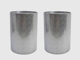 Brookhaven Modern Round Hammered Accent Table  Set of 2  by Christopher Knight Home  Retail 163 99