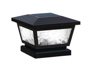 Black Fairmont Solar Post Cap  Set of 2