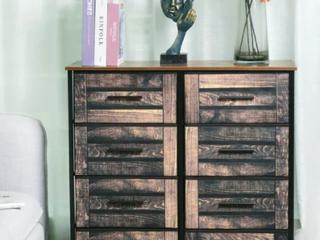 8 Drawers Fabric Storage Organizer Clothes Drawer Double Dresser Retail 97 99