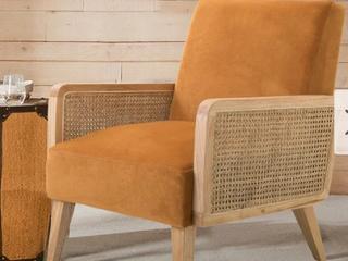 Carson Carrington Yppersbyn Upholstered Velvet Accent Chair  Retail 339 99