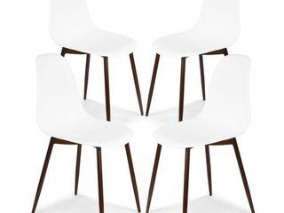Edgemod landon Sculpted Dining Chair  Set of 4  Retail 198 99