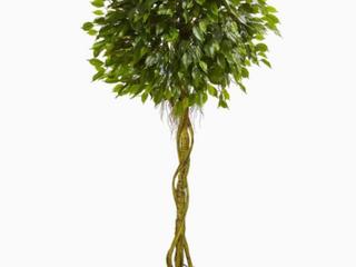 Ficus Tree Artificial Decorative Foliage 75  Height Green   36X36X75  Retail 137 99