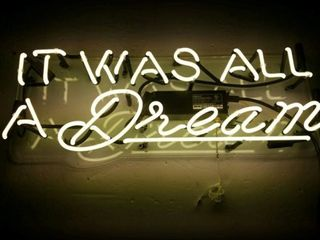 Oliver Gal  It Was All a Dream  Neon Sign
