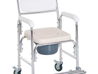 Personal Mobility Durable Waterproof Shower Accessible Transport Commode Medical Rolling Chair Retail 107 99