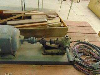 Electric Motor   Wood Pieces   Wire