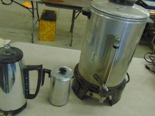 3 Electric Coffee Pots asst sizes