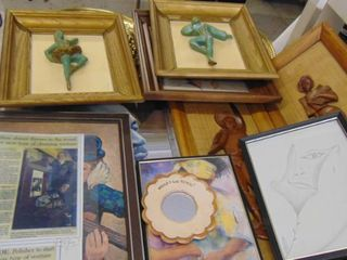 Assorted Wall Hangings and Frames