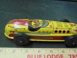 old metal race car toy   looks complete