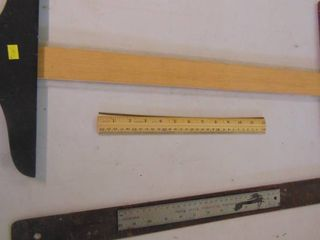 Metal Square   Wooden Rulers