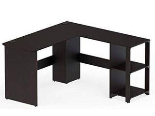 SHW l Shaped Home Office Wood Corner Desk  Espresso