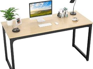 Foxemart Computer Desk 47AaA Modern Sturdy Office Desk PC laptop Notebook Study Writing Table for Home Office Workstation  Black