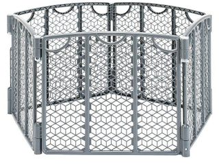 Evenflo Versatile Play Space  Indoor   Outdoor Play Space  Portable  18 5 Square Feet of Enclosed Space  Cool Gray