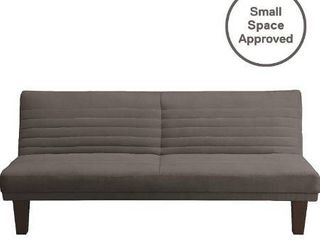 DHP Dillan Convertible Futon with Microfiber Upholstery  Grey